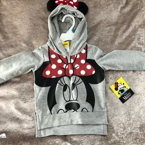 NWT Minnie Mouse sweatshirt size 2t